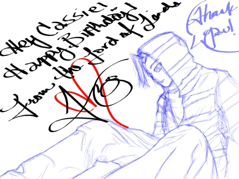 """Yscariot, disguised as """"Justice"""" in Verse 18 of Yscariot: ZETA. (Sketched art by Marcus Medina, July 2015)"""