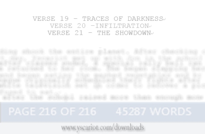 Tentative verse titles in the upcoming novel, Yscariot: Chapter 1